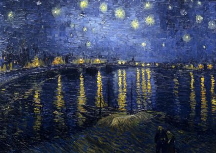Van Gogh, Vincent: Starry (Starlit) Night over the Rhone. Fine Art Print.  (00250)